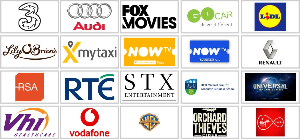 Sample Advertisers Company Logos - Sound Cloud
